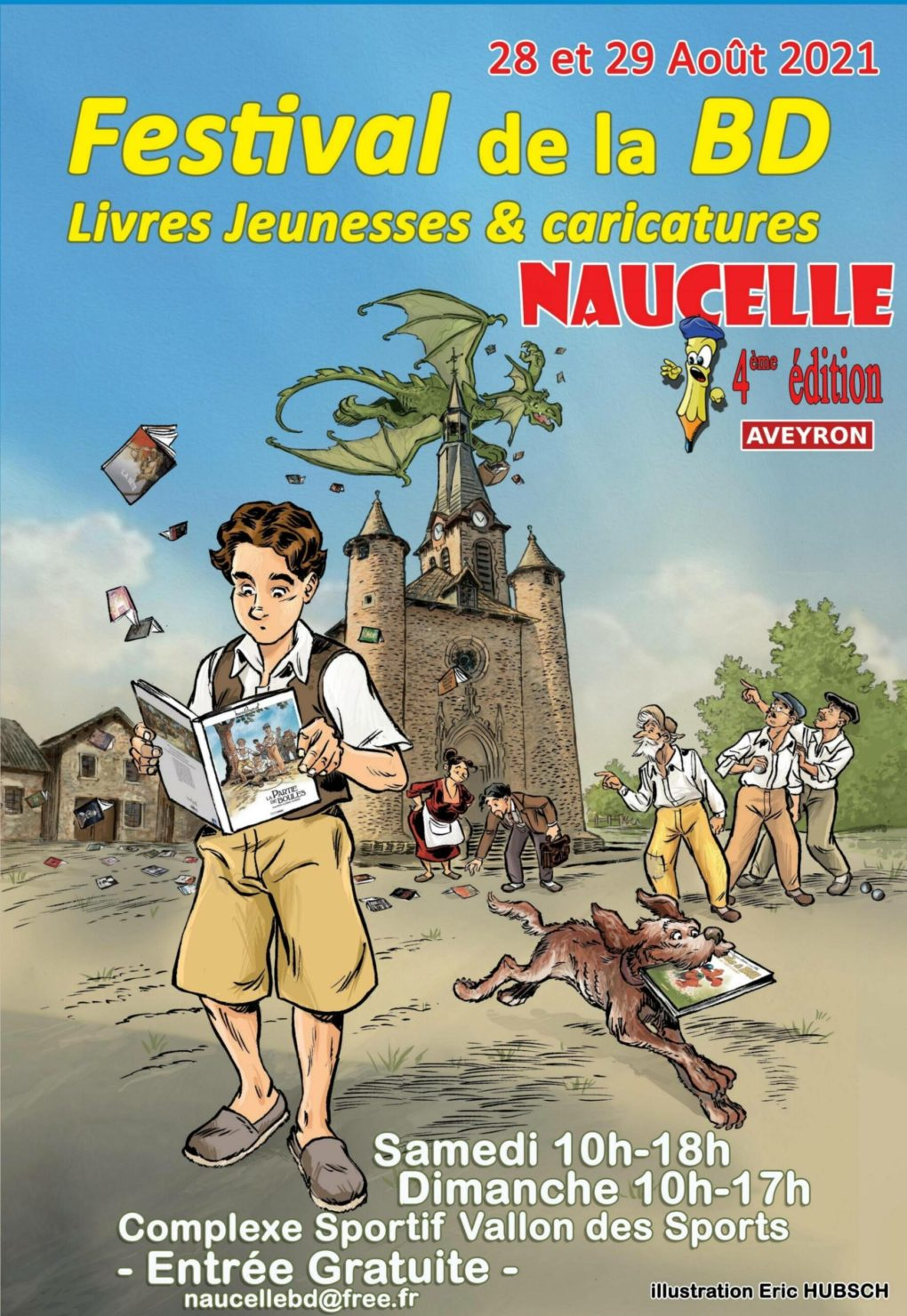 Festival de la BD, Livres Jeunesses & caricatures Naucelle 2021