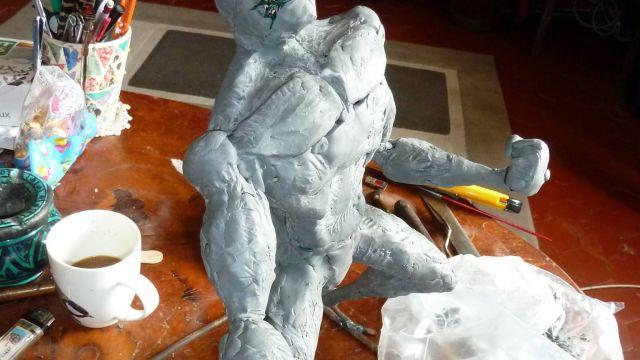 Rage Statue by Jean-Erick